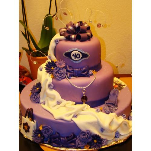 Торт на день рождения 27