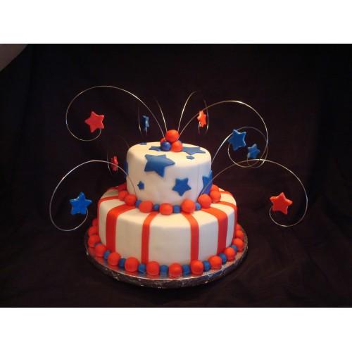 Торт на день рождения 45
